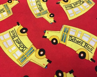 School Days School Buses from Quilting Treasures By the yard