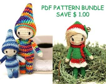 PATTERN BUNDLE: Crochet Elf, Amigurumi Doll, Kindness Elves (English Only)