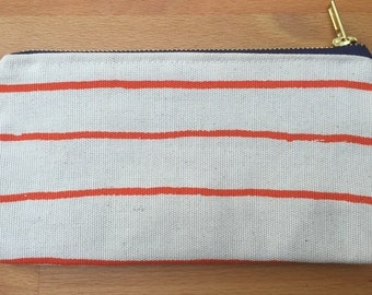 Red Stripe Make up / Toiletry / Cosmetic Bag