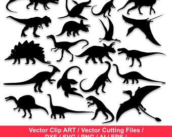 Dinosaurs  Silhouettes / Dinosaurs clipart / Dinosaurs svg / Dinosaur Silhouette Clip Art / Dinosaur  Silhouette / Digital Dinosaurs Clipart