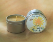 Candle Tin ~ Beeswax Candles ~ Container Candle ~ 4 oz.