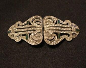 Rhinestone dress belt buckle