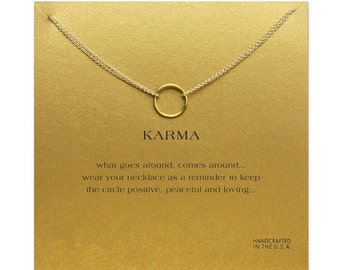 Gold Plated Karma Necklace