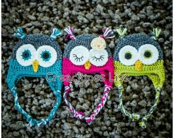 baby hat owls