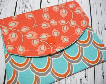 Women's Fabric Wallet, Change Purse Wallet, Fabric Small Wallet, Credit Card Holder, Business Card Holder, Gift For Her Under 20