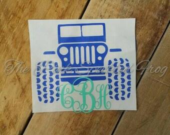 Jeep decals personalized decals cinyl decals yeti cup decals car decals