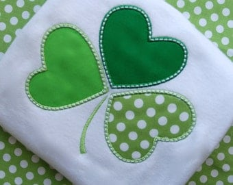 St Patricks Day Shirt, Whimsical Shamrock Girls Shirt, St. Patty's Day Shirt