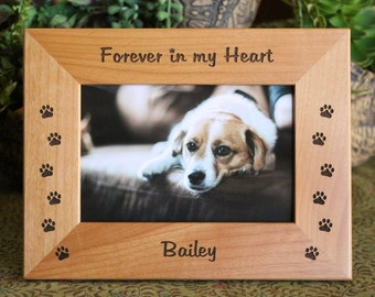 Personalized Dog Cat Frame, Engraved Pet Frame, Pet memorial gift, Dog lovers gift