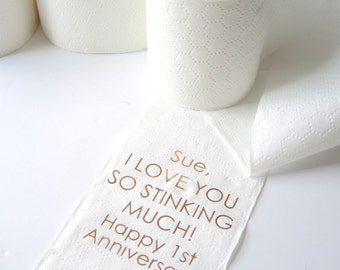 Personalised First Anniversary Paper Toilet roll