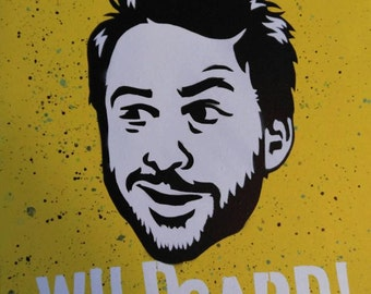16x20 Charlie Kelly Pop Art Painting by: Chris Ecto / ChrisEcto - Its Always Sunny in Philadelphia Painting, Wall Art, Canvas Art,