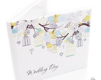 Handmade wedding CD/DVD case, cover - Wedding Day Fairy - neodymium magnets