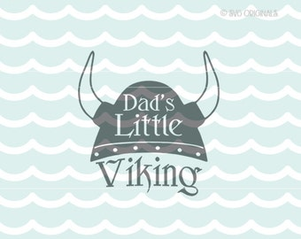 Viking SVG Baby SVG. Cute for so many uses! Cricut Explore and more. Baby Viking Dad Father's Day Father Viking Hat Helmet SVG