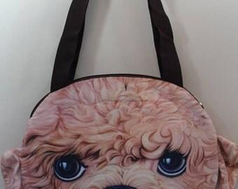 3 D dog face tote bag (d3)