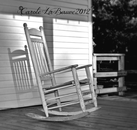 ROCKER in the SHADOWS ~ Black and White Fine Art Photography ~ Cajun Decor ~ Creole ~ 8 x 10 format