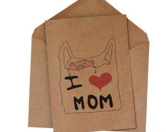 Mom love you card - mum birthday card - I love you mom card - mum miss you card- mom thank you card - Miss you mom card - I love you mum car