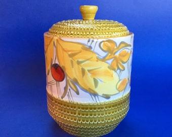 Mid Century Vintage Italian Art Pottery Kitchen Canister Italy Cookie Jar