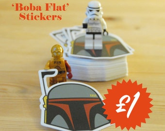 Boba Fett, Star Wars Inspired Stickers [FREE SHIPPING To The UK]