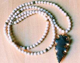 Beaded Arrowhead Necklace