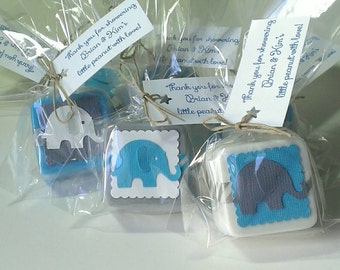12 baby shower favors elephant boy baby shower baby shower favor soaps elephant