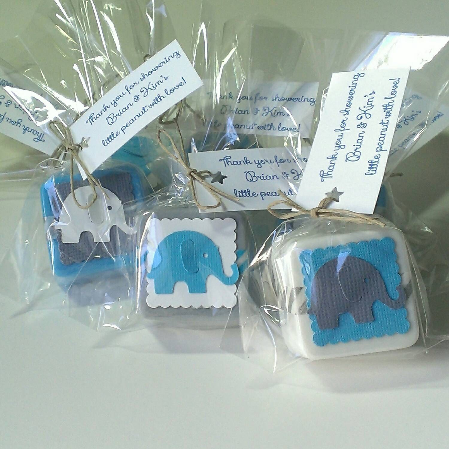 12 baby shower favors elephant boy baby shower baby shower