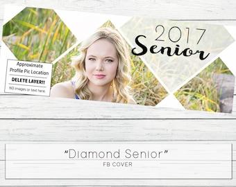 Diamond Senior Facebook Cover Template