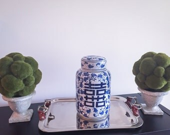 Oriental Old Dynasty Blue and White Vase