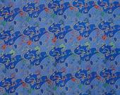 Royal blue vintage silk w...