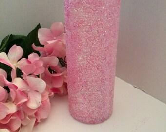 Pink glitter flower vase,Wedding centerpiece, Wedding vase, Flower vase, bling flower vase, Pink flower vase, Wedding decorations