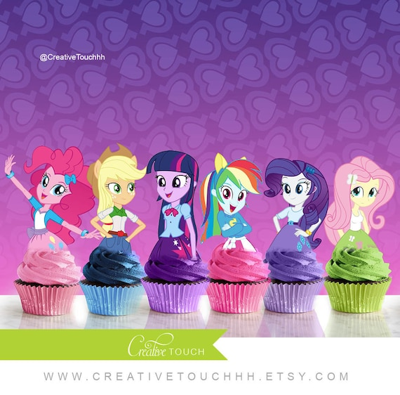 My Little Pony Equestria Girls Cupcake Toppers My Little Pony