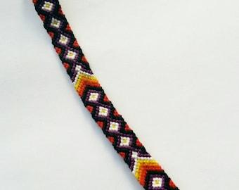 Diamond & Chevron Friendship Bracelet.