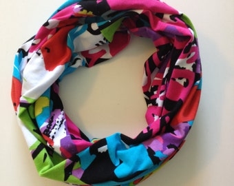 Multi-colored Abstract Infinity Scarf
