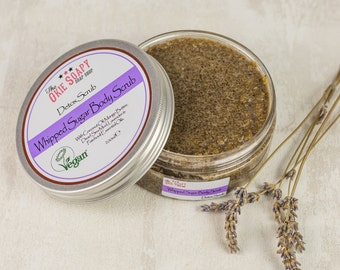 Lavender and Patchouli Sugar Body Scrub, Dead Sea Mud Body Scrub, Sugar Scrub, Vegan Scrub, Face Scrub, Gift for Her, Gift for Wife