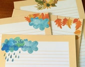In the Autumn Rain- Writing Paper- Stationery