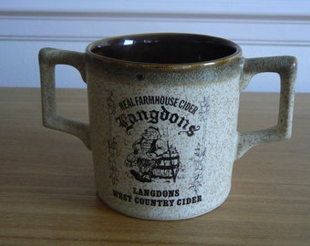 Langdon's West Country Cider Mug - Real Farmhouse Cider.