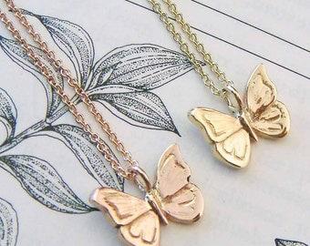 Gold Butterfly Necklace, butterfly jewellery, dainty necklace