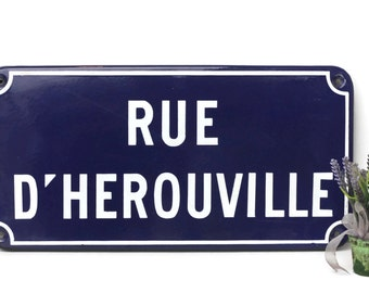 Vintage French Enamel Street sign,road sign,advertising,industrial