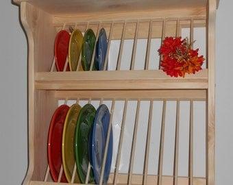 Plate Rack Wood 2 Tier