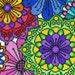 DMC BK1642 Statement Flowers Cross Stitch Kit designed by Michaela Learner