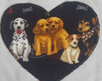 Size 1 Puppies Long Sleeved Applique onsie