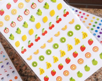 Cute Mini-Fruits Planner stickers - Cute Mini Ballon Planner sticker - Weather Planner Deco Sticker