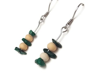 Bohemian jewelry malachite boho jewelry malachite boho earrings bohemian earrings malachite stone earring healing crystal stone jewelry ayin