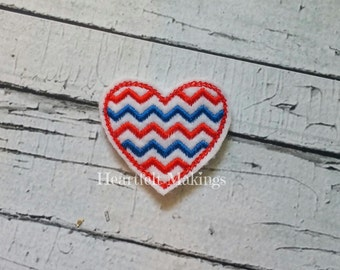 Patriotic chevron heart