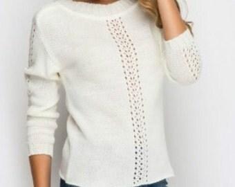 Fashion sweater Knitted Sweater  Autumn Sweater Woman sweater  Winter sweater Office evening sweater