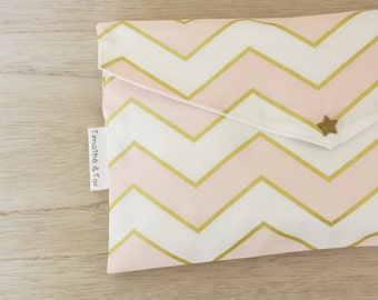 Pocket diaper, Collection Pink Geometry