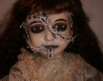 """Large 24"""" ooak stitched up scary creepy horror doll"""