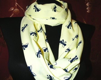 gentle delicate light pink silk scarf with butterflies or citron color silk scarf butterflies