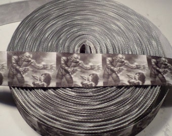 Horror ribbon, Classic Horror Movie Monster Grosgrain ribbon, Creature from the black lagoon