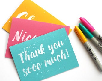 Thank You Cards, Thank You Cards Set, Pack of Thank You Cards, Thank You So Much, Greeting Cards Pack, Greeting Cards Set, Thank You
