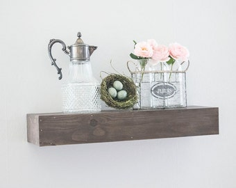 Farmhouse Decor- Farmhouse Style- Floating Shelf - Floating Shelves- Wood Shelf- Rustic Home Decor- Rustic Shelf- Farmhouse Shelf