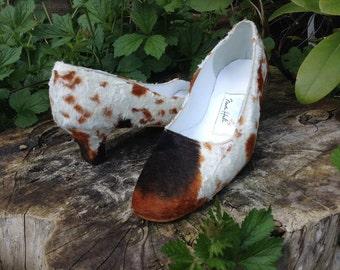 Faux pony fur court shoe
